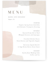 This is a brown menu card by Hooray Creative called Sculpture Garden with standard printing on signature in standard.