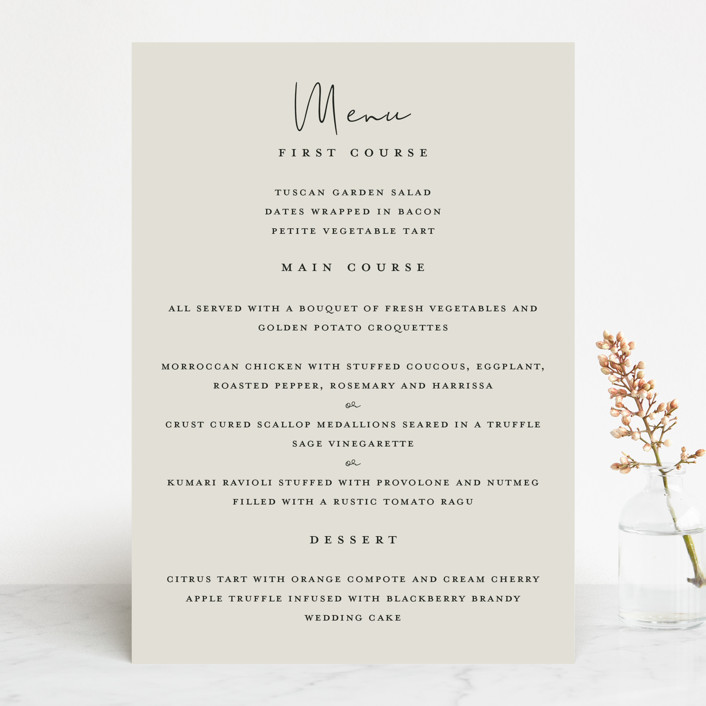 """sweet sweet elegance"" - Menu Cards in Dutch Cream by frances."