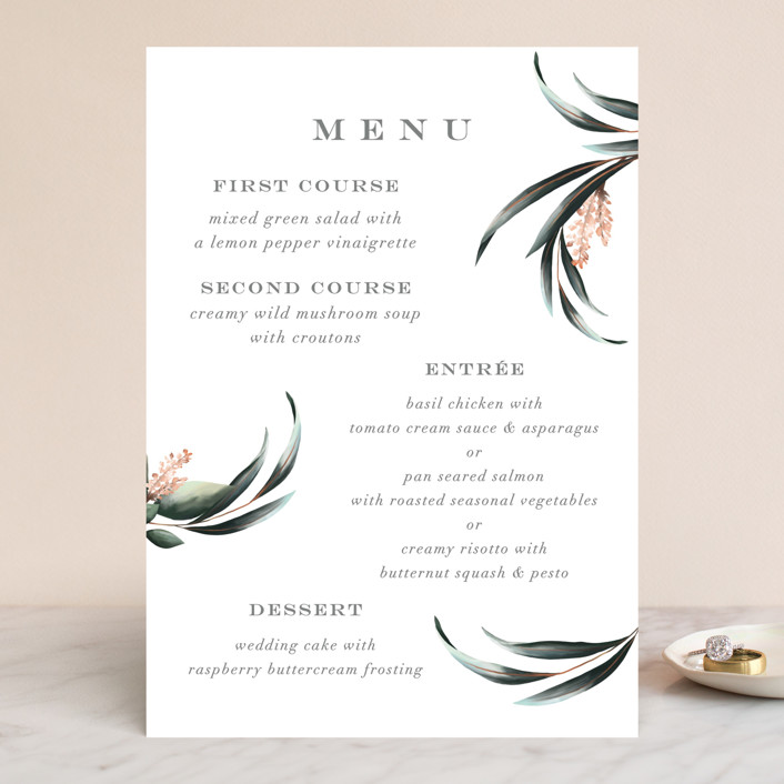 """Maya Rustica"" - Menu Cards in Rose by Petra Kern."