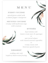 This is a green menu card by Petra Kern called Maya Rustica with standard printing on signature in standard.