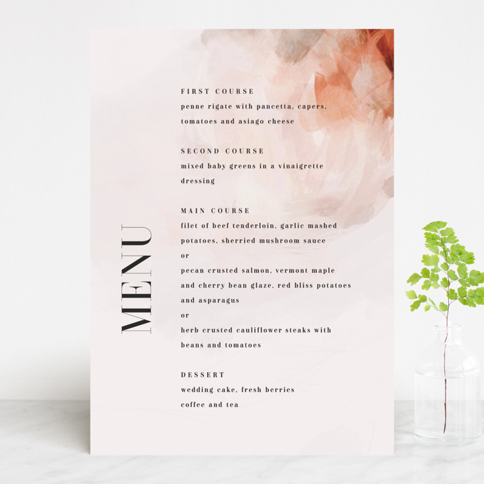 """Romantic"" - Menu Cards in Earth by Lori Wemple."