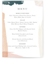 This is a pink menu card by Jennifer Wick called Overlapping with standard printing on signature in standard.