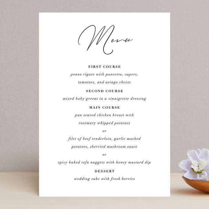 """first dance"" - Menu Cards in Champagne by Kasia Labocki."