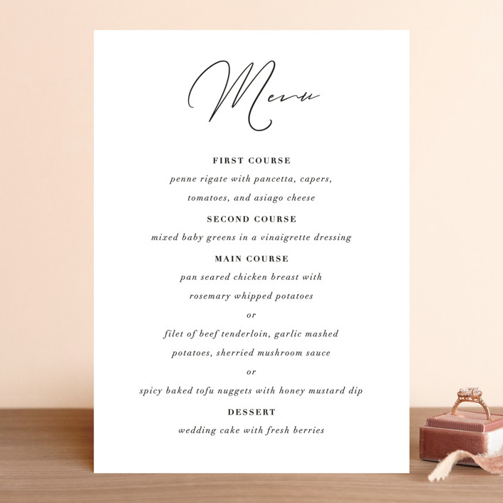 """first dance"" - Menu Cards in Champagne by Kasia Labocki."