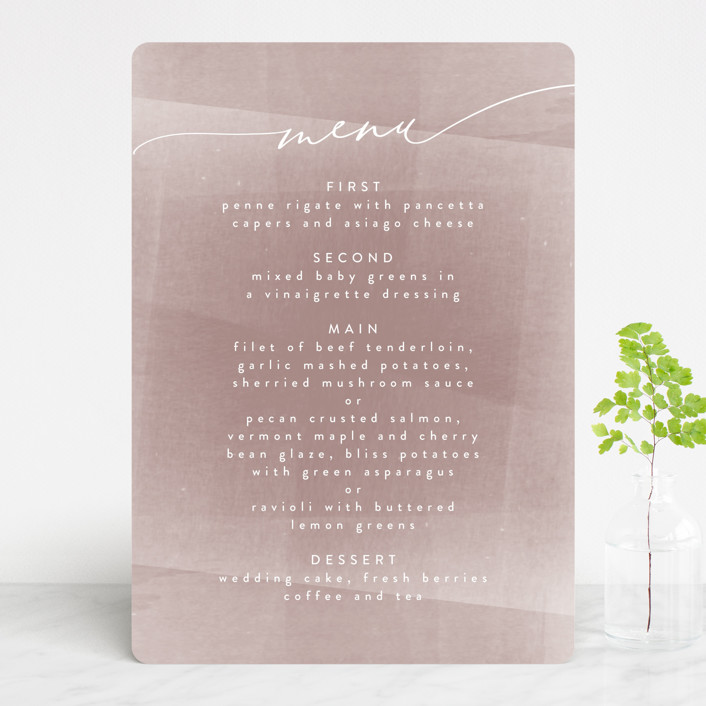 """plain paint"" - Modern Menu Cards in Taupe by Phrosne Ras."