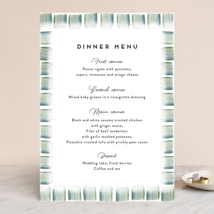"""""""Evergreens Watercolor"""" - Menu Cards in Forest by Yao Cheng Design."""