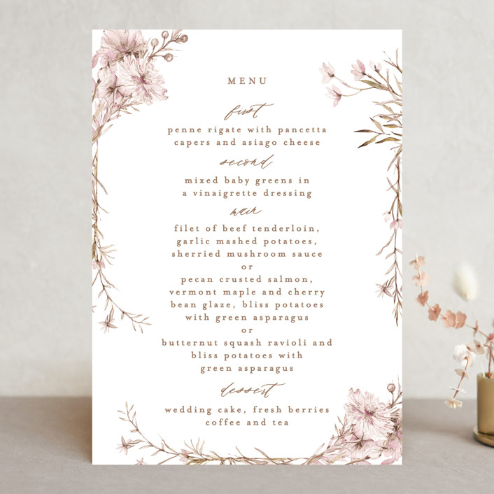 """""""ring box"""" - Menu Cards in Sunset by Phrosne Ras."""