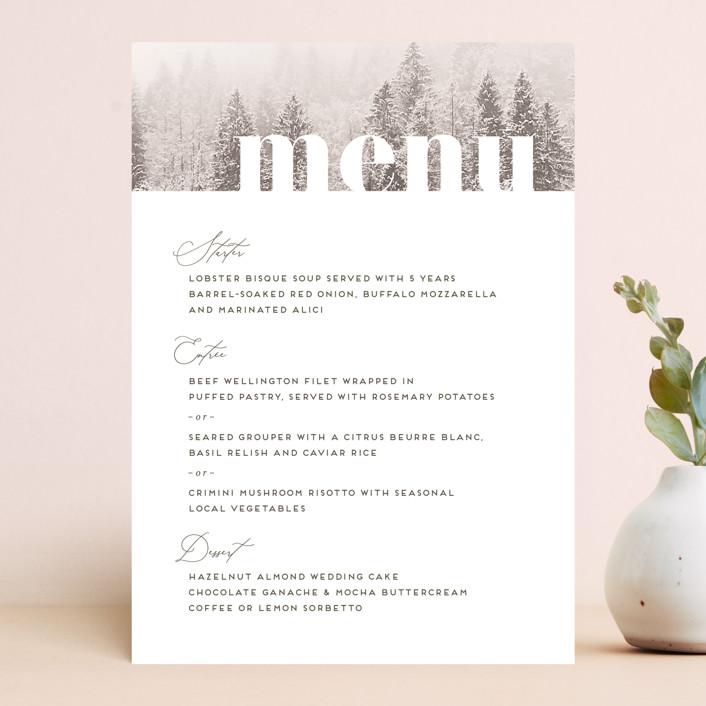 """torrone"" - Rustic Menu Cards in Cedar by chocomocacino."
