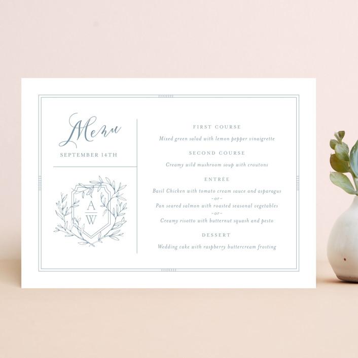 """Love Beyond Measure"" - Menu Cards in Mineral by Oscar & Emma."