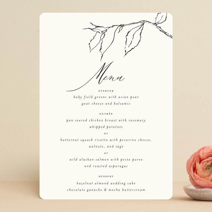 """Elysium"" - Menu Cards in Linen by Design Lotus."