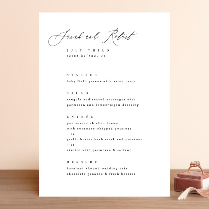 """Corison"" - Menu Cards in Classic by Kelly Schmidt."