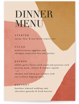 This is a red menu card by Kelly Schmidt called Galeria with standard printing on signature in standard.