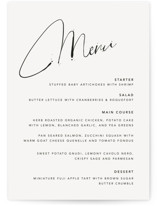 This is a black and white menu card by Design Lotus called Signature Style with standard printing on signature in standard.
