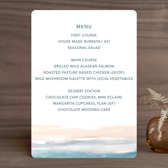 """""""Sea and Sand"""" - Menu Cards in Cortez by Jenny Partrite."""