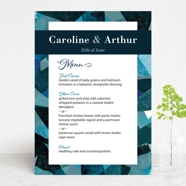 """""""Drops"""" - Menu Cards in Sea by Bethania Lima."""