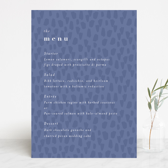 """""""romance in spring"""" - Menu Cards in Olive by Angela Marzuki."""