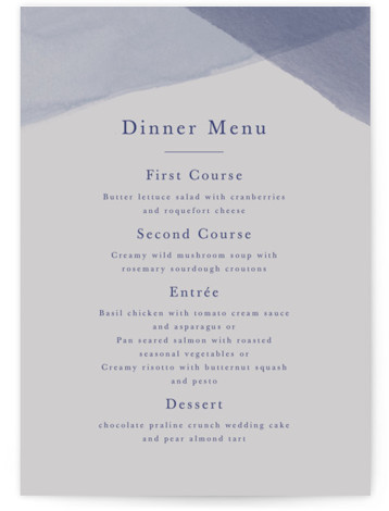 Desert Wash Menu