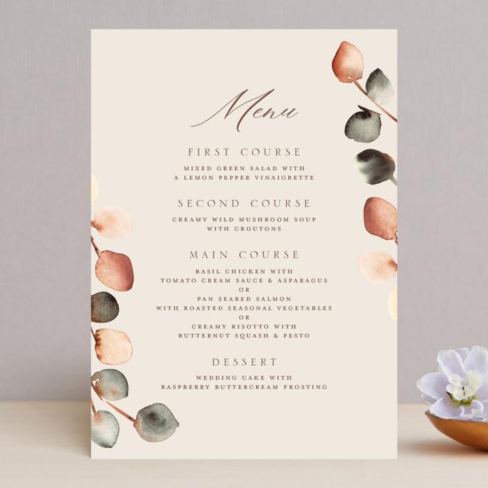 """""""Bella Mia"""" - Menu Cards in Autumn by Petra Kern."""