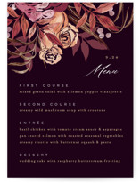This is a purple menu card by Alethea and Ruth called Fall Floral with standard printing on signature in standard.