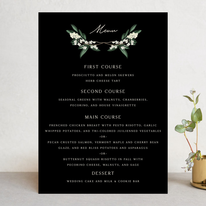 """Meander"" - Menu Cards in Obsidian by Kaydi Bishop."