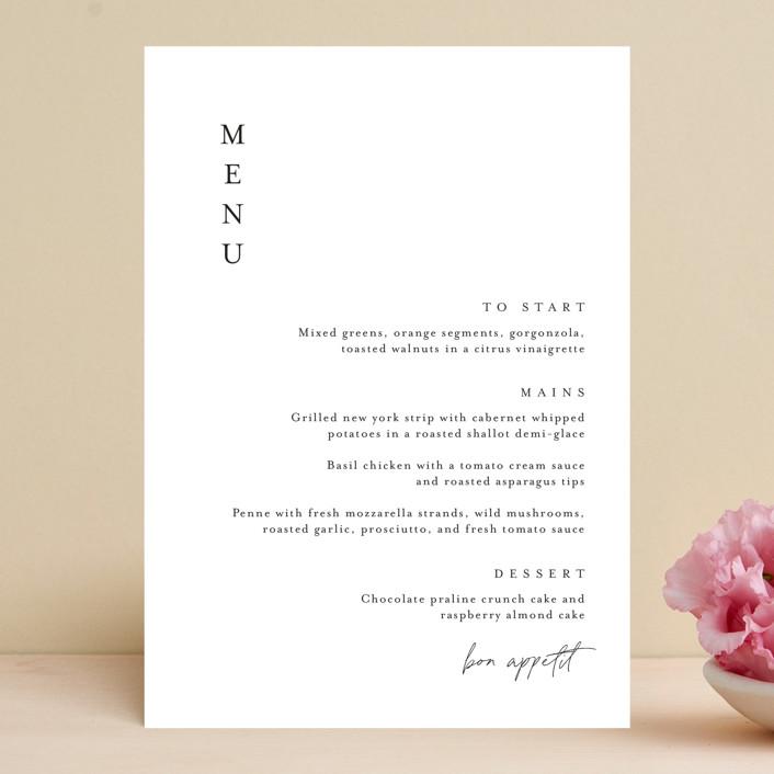 """""""Handwritten"""" - Menu Cards in Obsidian by Jennifer Postorino."""