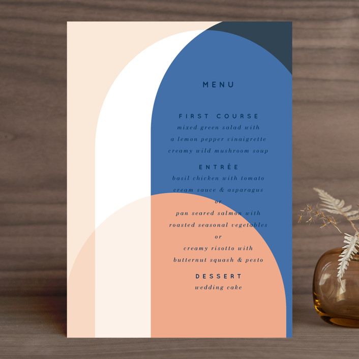 """""""Color Arch"""" - Modern Menu Cards in Aquatic by Baumbirdy."""