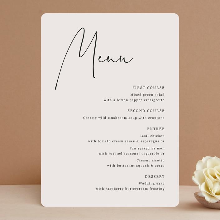 """""""stylist script"""" - Menu Cards in Ivory by Cass Loh."""