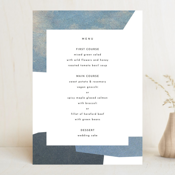 """sky poetry"" - Modern Menu Cards in Daylight by Sumak Studio."