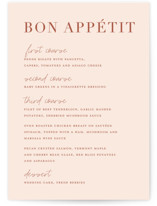 This is a pink menu card by Stacey Meacham called Classic refresh with standard printing on signature in standard.