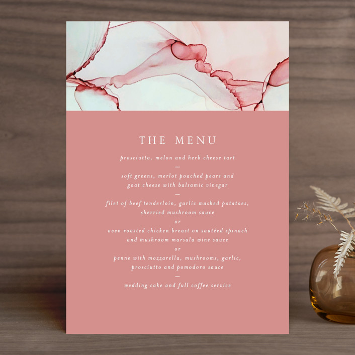 """""""opalescent"""" - Menu Cards in Chalcedony by Erin Deegan."""