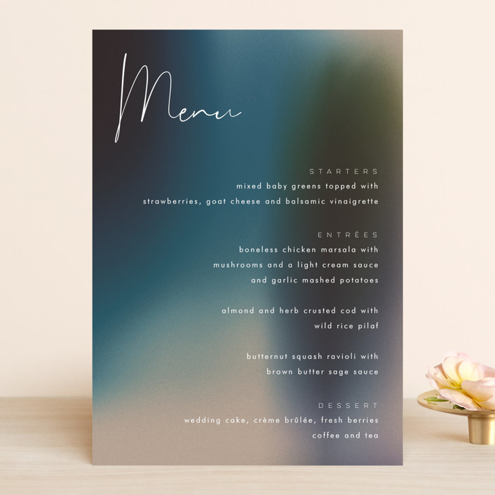 """Mystique"" - Menu Cards in Ocean by Lisa McLean."