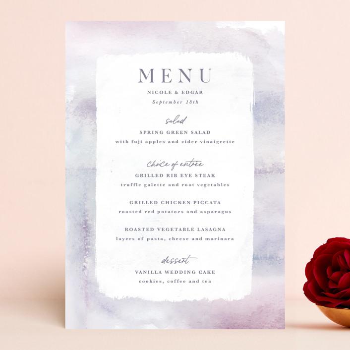 """""""Lavender Fields"""" - Menu Cards in Lavender by Hooray Creative."""