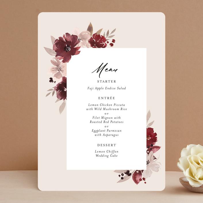 """""""Emyn"""" - Menu Cards in Burgundy by Itsy Belle Studio."""