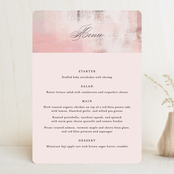 """Soft Overlay"" - Menu Cards in Cloud by Mansi Verma."