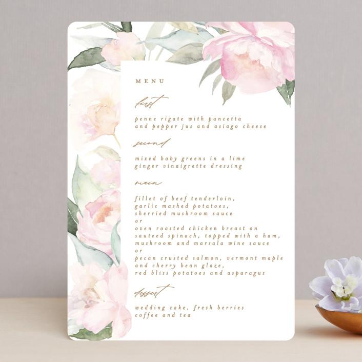"""""""beautiful peonies"""" - Menu Cards in Spring by Phrosne Ras."""