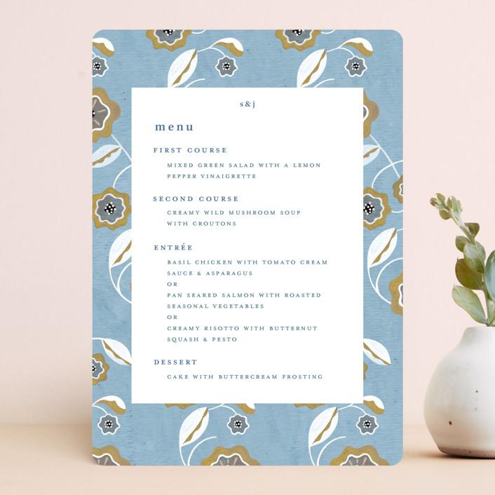 """The Love Birds"" - Menu Cards in Teapot by Morgan Ramberg."