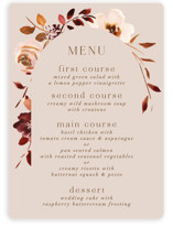 This is a pink menu card by Petra Kern called Love Garden with standard printing on signature in standard.