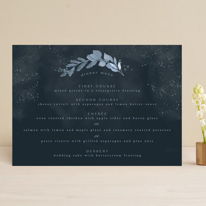 """Wonderful Tonight"" - Menu Cards in Neptune by Creo Study."