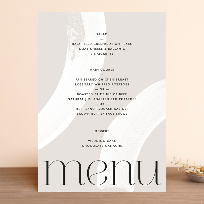 """""""Swoon"""" - Menu Cards in Cream by Lindsay Stetson Thompson."""