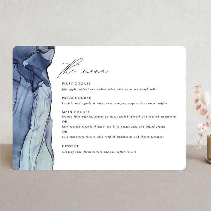 """Slate"" - Menu Cards in Blue Jasper by Erin Deegan."