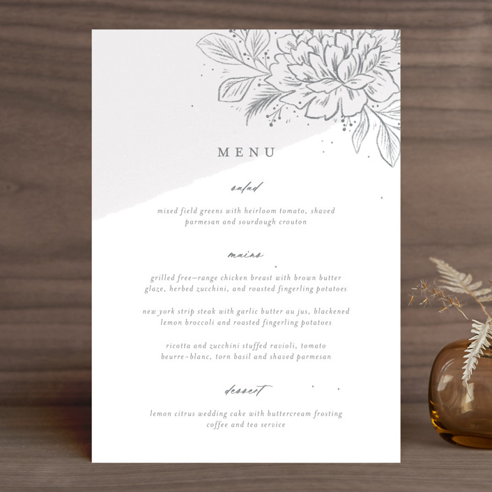 """Loving"" - Menu Cards in Cloudy by Paper Raven Co.."