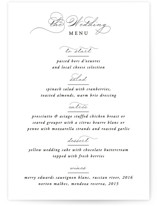 This is a black and white menu card by Kimberly FitzSimons called Together With You with standard printing on signature in standard.