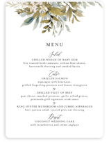 This is a white menu card by Chris Griffith called Wedding Festive with standard printing on signature in standard.