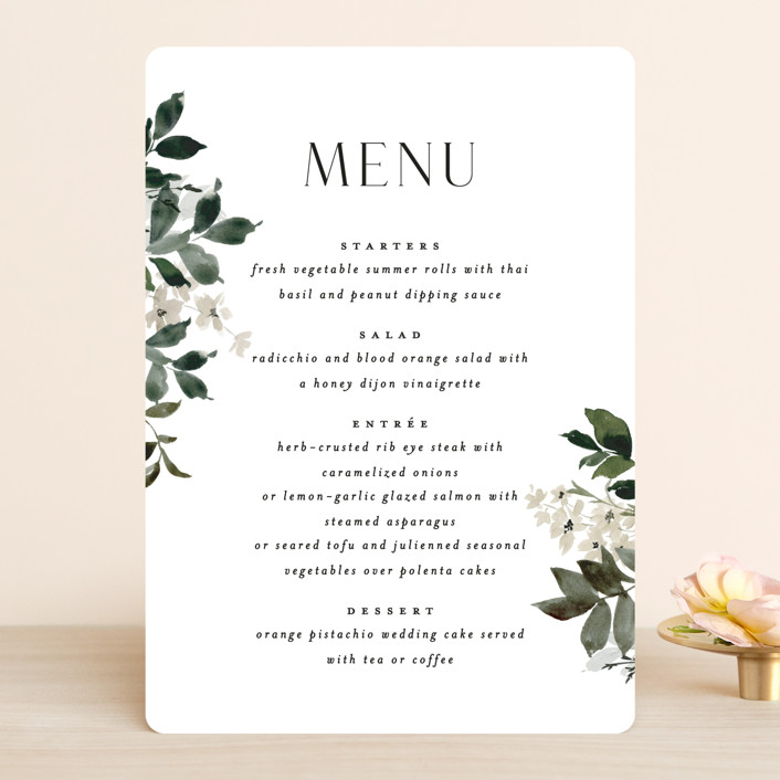 """""""Grove"""" - Menu Cards in Meadow by Everett Paper Goods."""