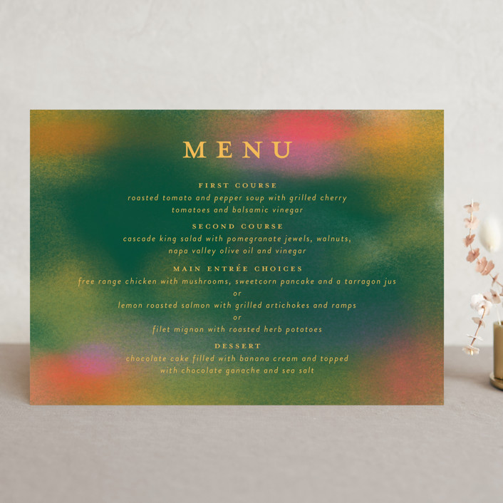 """""""Forest Love"""" - Menu Cards in Forest by Simona Camp."""