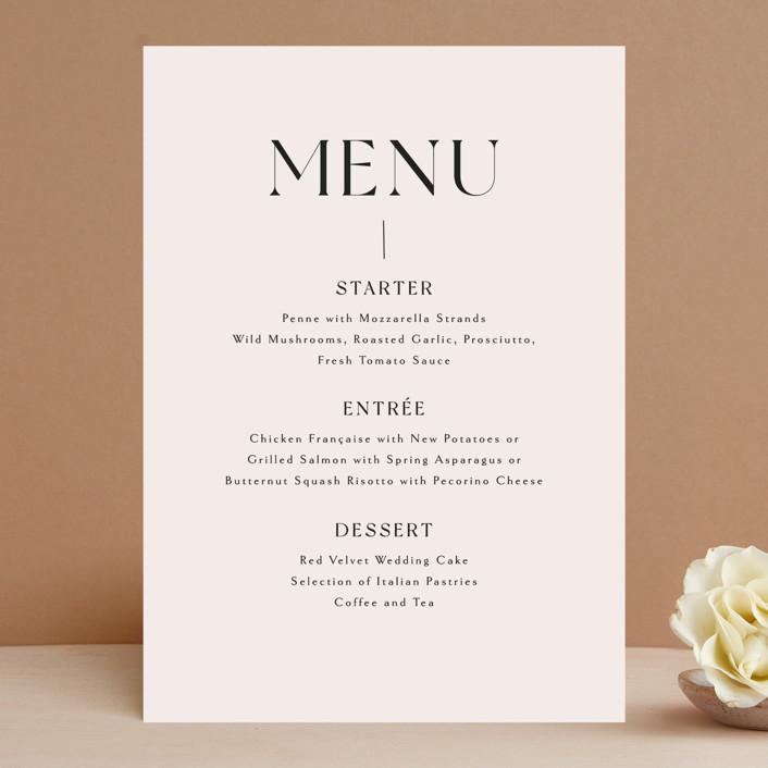 """""""Genevieve"""" - Menu Cards in Cream by Sandra Picco Design."""