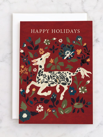 Silk Animal Carpet The Met Holiday Greeting Cards