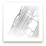 Custom Map Foil Art