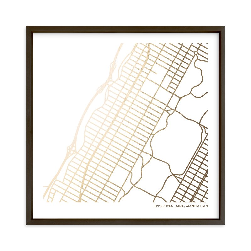 Custom Map Foil Art Custom Map Foil Art