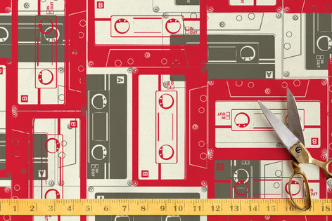 Mixed Tape Fabric